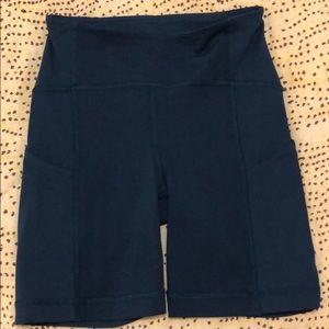 Size 2 blue Lululemon biking shorts